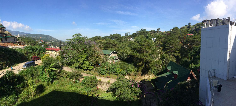 パインスの寮の窓からの景色